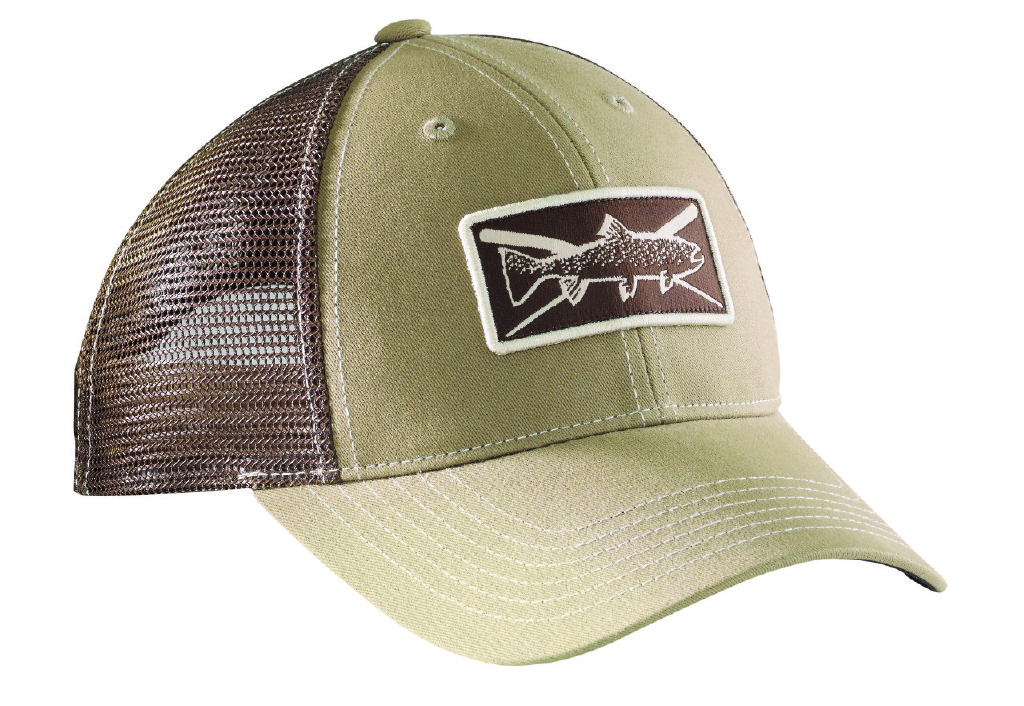 Flying fisherman h1750 trout trucker hat hats visors mfe for Fitted fishing hats