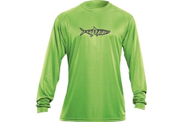 Flying Fisherman TL1402L-TARPON L S PERFORMANCE TEE LIME T-Shirts & Performance T-Shirts, Long Sleeve