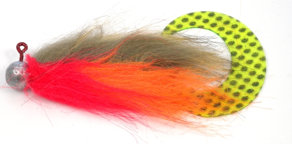 Pike streamers craft fur jig tail mod 01 brown for Furry craft